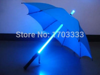 Wholesale 10pcs Cool Blade Runner Light Saber LED Flash Light Umbrella rose umbrella bottle umbrella Flashlight Night Walkers