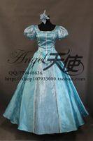 al por mayor accesorios de belleza para dormir-La llegada de la pequeña sirena Ariel / belleza de sueño Aurora princesa Cosplay Traje azul vestido de regalo de pelo accesorio