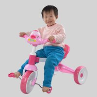 Wholesale New Baby Kids Bike Musical Bicycle Trike Toddler Cute Duck Tricycle Ride On Toys JN0053 smileseller