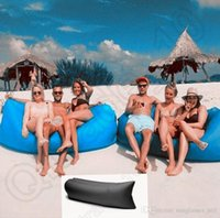 bags outdoor furniture - Beach Portable Outdoor Inflatable Bone Furniture Sofa Hammock Sleeping Camping Air Bed Nylon Lazy Air Sofa Bag cm OOA450
