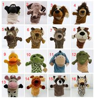 Wholesale Nici Hand Puppet Animal Plush Toy Turtle Wolf Donkey Elephant Raccoon Shaun the Sheep Lion Deer Stuffed Finger Puppet Xmas Promotion Gift