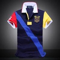 anti paint coating - 2016 Summer Hot Sale Polo Shirt USA American Flag Brand Polos Men Short Sleeve Sport Polo Man Coat Drop