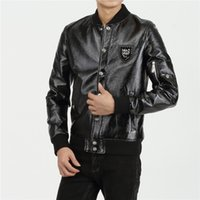 Wholesale Hot high quality Autumn And Winter PP Brand PHILIP PLEIN men s leather jacket motorcycle clothing casual Mens coat jacket