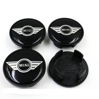 Wholesale 4pcs Car Wheel Center Hub Cap Emblem Badge Black Logo For MINI Cooper mm