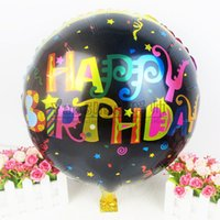 balloons black background - 50pcs inch round foil balloons black background multicolour happy birthday helium balloon kids Birthday party decoration