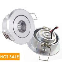 aluminum alloy cutting - Polished led watt Recessed downlight high power mini spotlight mm hole cut celling lamp AC85 V DC12V K K K white silver
