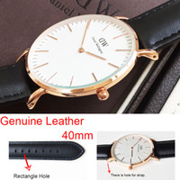 mens luxury watch quartz - Waterproof Genuine Leather Daniel Wellington Watch Mens Watches Top Brand Luxury Quartz Watch mm DW Watch relogio masculino montre femme