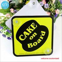 adhesive window signs - High quality pvc warning board baby warning board custom plastic suction cup car window sign