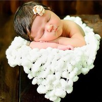 baby beding - 60cm X60cm White Newborn Baby Toddler Unisex Knitted Floral Blanket Swaddling Soft Baby Beding Product