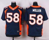 Wholesale 2016 top Broncos Elite Mens Von Miller Paxton Lynch Demaryius Thomas C J Anderson Stitched Jerseys Orange