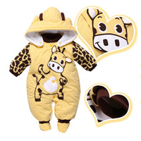 Wholesale Newborn Baby Girls Boys Hoodie Jumpsuit Romper Winter Outwear Clothes Outfits