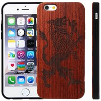 apple carvings - Premium in1 Handmade Natural Wood Shockproof Rosewood TPU Carvings for Cell Phones Case for iPhone s Plus se S
