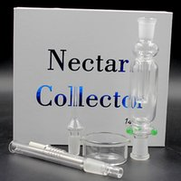 acrylic gift box size - In stock Nector collector Kit mm mm mm joint size honey straw with Titanium and Quartz Nail for water pipe glass bong