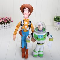 Wholesale 100sets pes set cm cm Toy Story Woody and Buzz Lightyear Plush toy baby soft toy kinds
