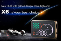 auto fuel consumption - X6 quot Universal Auto Car HUD Head Up Display Overspeed Warning Windshield Project Alarm System Fuel Consumption OBD II Interface