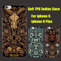 aries case - For iphone S Plus plus Soft TPU Gel Phone Cover Constellations Aries Taurus Gemini Libra Sagittarius Pisces DHL Free SCA150