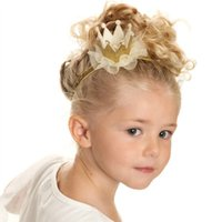 bamboo blends - 2016 New Tiaras Christmas Gift Children Hair band Accessories Hairpiece Kid Lace Headbands For Girls Hair Head Bands Baby Hair Accessor