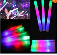 Wholesale best selling LED Colorful rods led foam stick flashing foam stick light cheering glow foam stick foam led