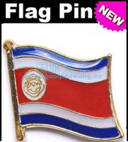 Wholesale Costa Rica Flag Badge Metal Pin Flag badge country flag badges military flag badges flag badge pin