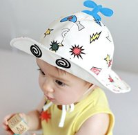 aircraft hats - Children s fashion printed cotton visor child Summer infant aircraft modeling tourist beach fisherman hat E194