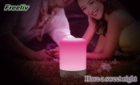 Wholesale 2016 in stock Innovative Fantasy Colorful LED Lamp MIC Wireless Bluetooth Speaker for mobile phone computers and home theatre