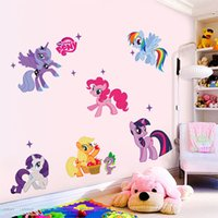 animals horses wallpaper - Creative Colt Horse Wall Stickers Lovely Animal Cartoon Wall Decals Wallpapers for Kids Bedroom Living Room Home Decorations WS205