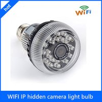 WF-E27 HD 1080P WIFI IP caméra cachée ampoule, ampoule ampoule caméra espion, ampoule DVR, ampoule Spy Camera WiFi
