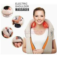 Cheap 2016 U shape electric shoulder massager back neck multifunction vibrator massage machine muscle stimulator massage pillow