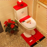 best bath seat - 4pc Christmas Decoration Santa Closet Toilet Seat Carpet Bath Set Best Happy Christmas Decorations Gifts Perfect Christmas