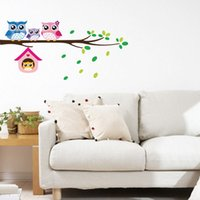 bedroom decor images - Lovely Owl Family Branch Wall Stickers Cartoon Image Wall Decals Kids Room Kindergarden Nursery Room Decor WS272