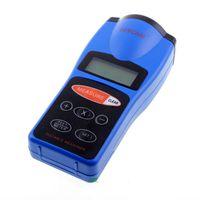 Wholesale CP Handheld LCD Ultrasonic Measurer Laser Poiunter with Area Volume calculator Blue Pocket Ultrasonic Distance Meter