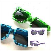 accessory geeks - 2016 colors New Fashion Women Men Sunglasses Block Pixel Sunglass JJ Computer Nerd Geek Gamer Glasses Unisex Minecraft Sun Glasses