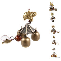 Wholesale S5Q Classical Bronze Bells Fengshui Hanging Wind Chimes Home Decoration Souvenir AAAGCO
