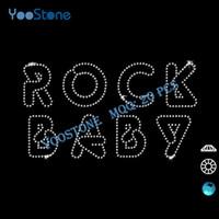 baby rock t shirts - 2016 Sale Newest Rock Baby Rhinestone Heat Transfers Hot Fix Rhinestone Transfer Motifs For DIY t Shirts Decoration