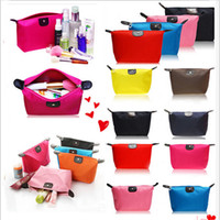 Wholesale 2015 New candy Cute Women s Lady Travel Makeup Bags Cosmetic Bag Pouch Clutch Handbag Casual Purses Dumpling type cosmetic gift purse