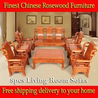 antique wooden sofa - 8pcs African rosewood Living Room solid sofa sets chinese rosewood Furniture Ming Dynasty style heirloom solid carving wooden furniture