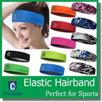 stretch band - 2016Women Men Sports Sweat Sweatband Headband Yoga Gym Stretch Head Band Hair Band color