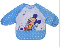 Wholesale Waterproof anti dress clothes children eat saliva clothing baby cartoon child gown jacket
