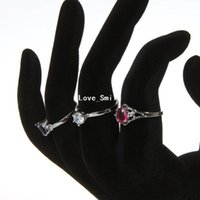 Wholesale new acrylic ring display jewelry display OK hand shape dislay black