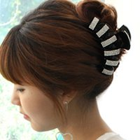 Wholesale Korean Hot Fashion Large Acrylic Full Crystal Rhinestone Hair Claw Clip For Women Hair Accessories Girls Hair Jewelry Headwear