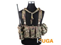 Wholesale Emersongeargear Hunting Vests MOLLE System Low Profile Chest Rig VestsTraining Tactical Armor Plate Carrier Vest