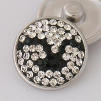 bh beauty - Hot sale KB2413 BH Beauty Seagull Manual rhinestone MM snap buttons for DIY ginger snap bracelets Accessories charm jewelry