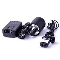 Wholesale 5pcs Black Spy Ear Amplifier Bug Wall Listening Device Audio Listening Wiretap Device