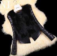 Wholesale New Winter Women Faux Fur Coats Short Imitation fox Coat Imitation Sheepskin Covered Leather Fur Jacket Outerwear Fur coat