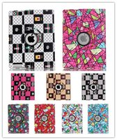 Yes art china - Colorful Art Rotating Leather case cover for ipad air pro mini mini4 inch tablet case