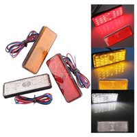 Wholesale New x Universal LED Reflector White Red Yellow Rear Tail Brake Stop Marker Light For JEEP SUV Truck Trailer Motorcycle Car