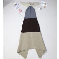 bedding for teens - Fashion Handmade Knitted Mermaid Tail Blanket for adult Teens Keep Warm crochet mermaid blanket throw bed Wrap sleeping bag