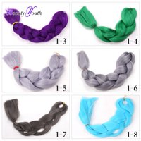 african hair pieces - 14 Colors Braiding Hair Expression Braids African Ultra Braid quot G Synthetic Hair For Braids White Blue Green Purple Red More Colors