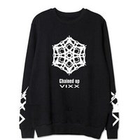 album chains - 2016 new kpop vixx nd album chained up member name printing o neck sweatshirt lovers pullover hoodie plus size fans clothes