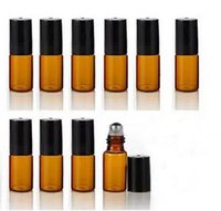 Wholesale Factory Price Stainless Steel Ball Refillable ml Mini Roll On Glass Bottles Essential Oil Roller ball fragrance Perfume Bottle Free Shippng